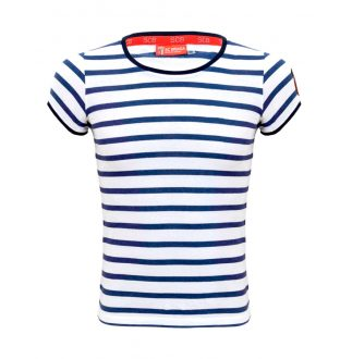 Striped Sleeve Woman Shirt