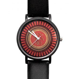 Relógio Centenário Vermelho e Dourado