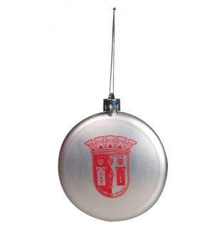 Silvery Christmas Ball